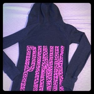 Victoria's Secret Pink Thermal Leopard Sleep Shirt
